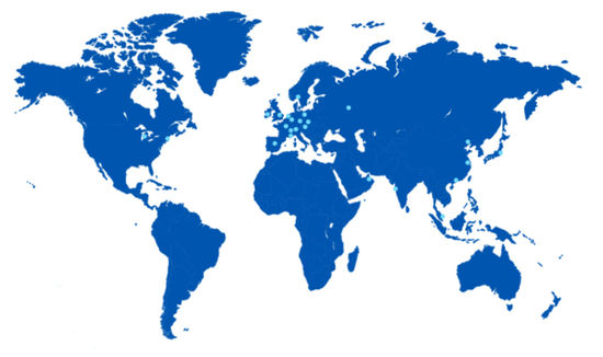 Image: Deutsche Börse Group world offices map